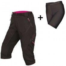 Endura WMS HUMMVEE II 3/4 Damen Bike Shorts schwarz 1