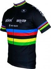 ETIXX-QUICKSTEP UCI Straßenrad Weltmeister 2014/2015 Kurzarmtrikot (langer Reißverschluss) - Vermarc Radsport-Profi-Team