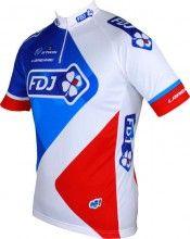 FRANCAISE DES JEUX (FDJ) 2015 Kurzarmtrikot (kurzer Rei�verschluss) - B'TWIN Radsport-Profi-Team