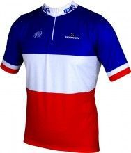 FRANCAISE DES JEUX (FDJ) Französischer Meister 2014/2015 Kurzarmtrikot (kurzer Reißverschluss) - B'TWIN Radsport-Profi-Team