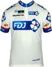 FRANCAISE DES JEUX (FDJ) 2013 Kurzarmtrikot mit kurzem Reißverschluss - Radsport-Profi-Team