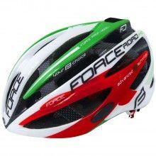 Force ROAD PRO ITALY Fahrradhelm rot grün 1