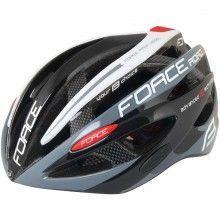 Force ROAD PRO Fahrradhelm schwarz weiß 1