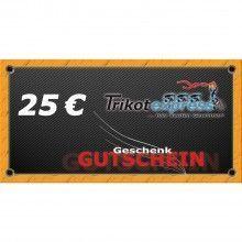 Trikotexpress Geschenkgutschein 25 Euro