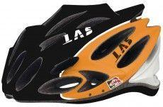 Las Fahrradhelm Squalo light schwarz orange