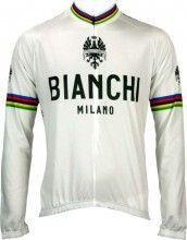 Bianchi Milano Langarmtrikot LEGGENDA - Campione del Mondo weiß
