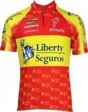 Liberty Seguros Spanischer Meister Inverse Radsport-Profi-Team - Kurzarmtrikot mit kurzem Reißverschluss