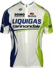 LIQUIGAS CANNONDALE 2011 Sugoi Radsport-Profi-Team - Kurzarmtrikot mit kurzem Reißverschluss