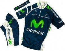 MOVISTAR 2012 Nalini Radsport-Profi-Team - Kinder-Set (Trikot, Hose, Stirnband)