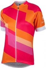 Nalini Damen Kurzarmtrikot Stripe Lady Jersey orange 4755 1