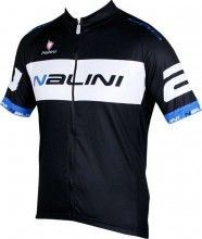 King size Nalini PRO Special BRAGA short sleeve cycling jersey black/blue