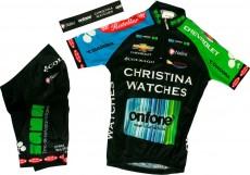 CHRISTINA WATCHES - ONFONE 2013 Nalini Radsport-Profi-Team - Kinder-Set (Trikot, Hose, Stirnband)