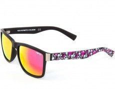 Nrc W8.3SKU2 Fashion- / Sportbrille pink mit Totenköpfen