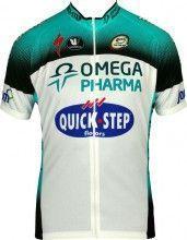 OMEGA PHARMA-QUICKSTEP 2013 Vermarc Radsport-Profi-Team - Kurzarmtrikot mit langem Reißverschluss