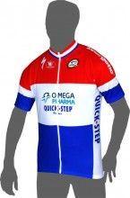 OMEGA PHARMA-QUICKSTEP Holländischer Meister 2013 Vermarc Radsport-Profi-Team - Kurzarmtrikot mit langem Reißverschluss