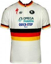 OMEGA PHARMA-QUICKSTEP Deutscher Zeitfahrmeister 2011/12 Vermarc Radsport-Profi-Team - Kurzarmtrikot mit kurzem Reißverschluss