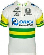 ORICA GREENEDGE Australischer Meister 2013 Santini Radsport-Profi-Team - Kurzarmtrikot mit kurzem Reißverschluss