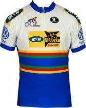 MTN QHUBEKA Namibischer Meister Vermarc Radsport-Profi-Team - Kurzarmtrikot mit kurzem Reißverschluss