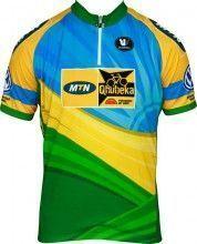MTN QHUBEKA Ruandischer Meister Vermarc Radsport-Profi-Team - Kurzarmtrikot mit kurzem Reißverschluss
