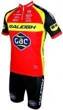 RALEIGH-GAC 2015 Set (Kurzarmtrikot kurzer RV + Trägerhose) -  MOA Radsport-Profi-Team