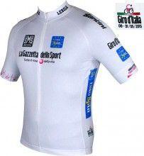Giro d'Italia 2015 MAGLIA BIANCO (wei�) Kurzarmtrikot - Santini Radsport
