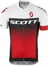 Scott RC PRO s/sl Shirt Radtrikot kurzarm weiß/rot