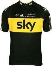 SKY Tour-Sieger Trikot  PRO CYCLING Kurzarmtrikot mit kurzem Reißverschluss - Radsport-Profi-Team
