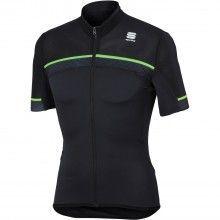 Sportful PISTA Radtrikot schwarz neongrün 1