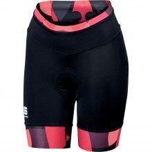 Sportful PRIMAVERA Radhose Damen kurz schwarz pink1