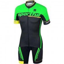Sportful SC TEAM Radsport-Set schwarz grün 1