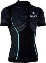 Bianchi Milano Tago Kurzarmtrikot schwarz (E16-4000)