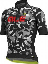 ALE GLASS short sleeve cycling jersey black grey camouflage 397df29bf