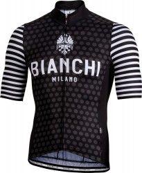 Bianchi Milano DAVOLI short sleeve cycling jersey black (E19-4000) ... 325ca8e07