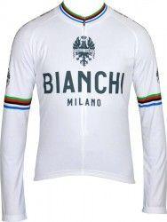 1923f198a Bianchi Milano LEGGENDA long sleeve jersey - Campione del Mondo white  (I18-4020)
