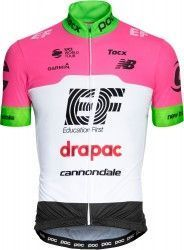EF Education First - Drapac 2018 cycling jersey (long zip) - POC  professional cycling 18e7cc76c