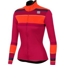 Sportful STRIPES THERMAL womens long sleeve cycling jersey love potion a9579f548