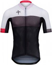 992908e89 Wilier AERO short sleeve cycling jersey black white - Pissei (WL265)