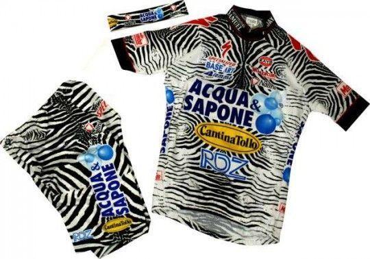 Acqua & Sapone 2002 Nalini Radsport-Profi-Team - Kinder-Set (Trikot, Hose, Stirnband)