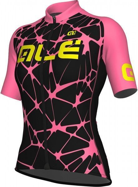Alé CRACLE LADY - Damen Radtrikot kurzarm pink/schwarz 1