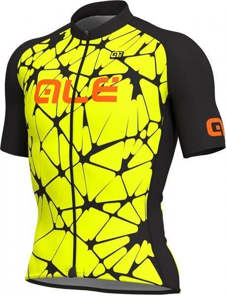 ALE CRACLE short sleeve cycling jersey yellow/black