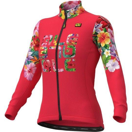 Alé FLOWERS LAB Lady - Damen Radtrikot langarm pink 1