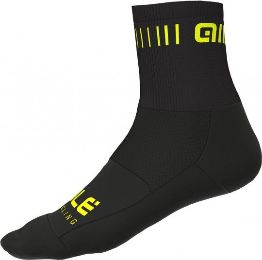 Alé Strada Q-Skin Socke schwarz/neongelb