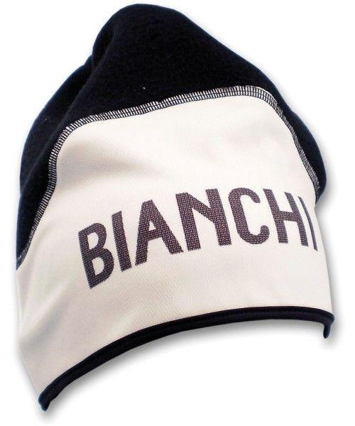 Bianchi CLASSIC Fleece Wintermütze schwarz/weiß 1