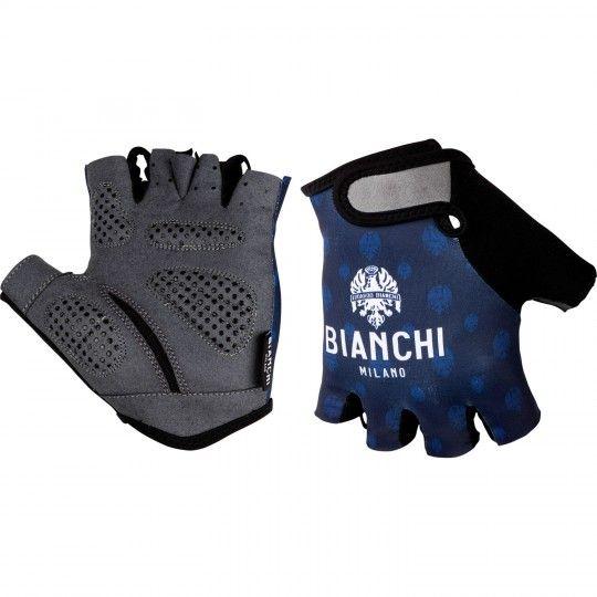 Bianchi Milano ALVIA Fahrradhandschuhe kurzfinger blau/gemustert