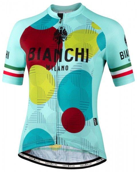 Bianchi Milano ANCIPA Fahrrad Kurzarmtrikot Damen celeste 1