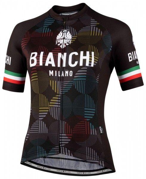 Bianchi Milano ANCIPA Fahrrad Kurzarmtrikot Damen schwarz 1