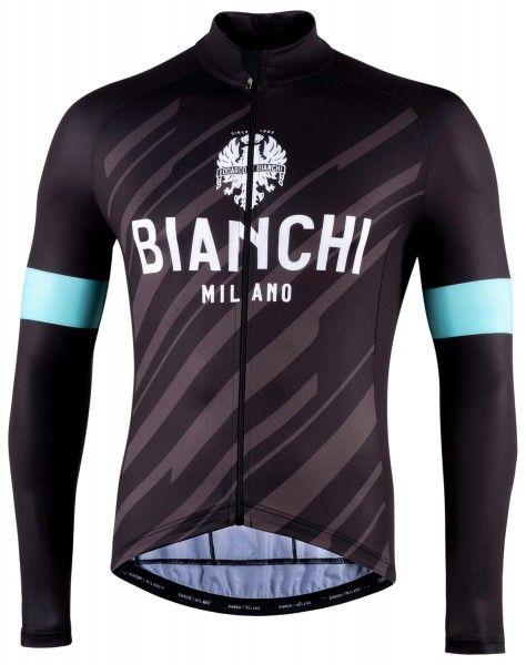 Bianchi Milano Bianzone Fahrrad Langarmtrikot schwarz 1