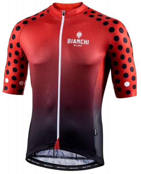 Bianchi Milano Cedrino Radtrikot kurzarm rot 4100 1