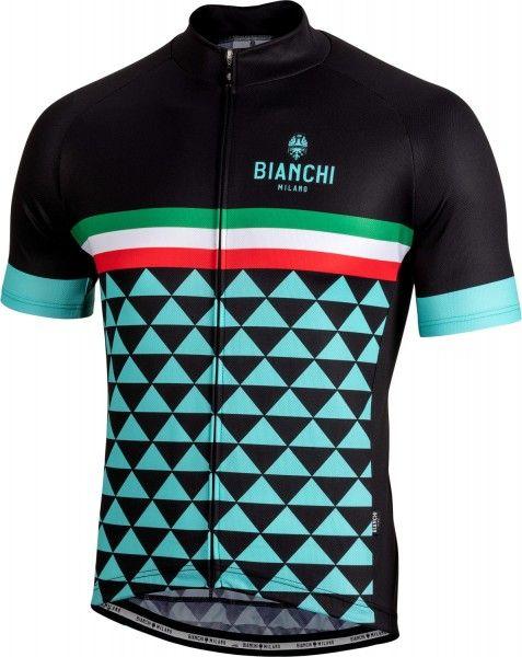 Bianchi Milano CODIGORO Radtrikot kurzarm schwarz 1