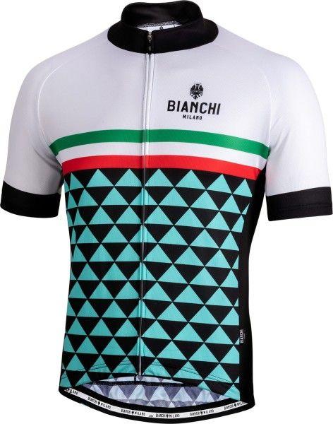 Bianchi Milano CODIGORO Radtrikot kurzarm weiß 1